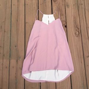 Expressed Scalloped Mauve Reversible Tank Top